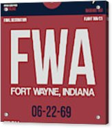 Fwa Fort Wayne Luggage Tag II Acrylic Print