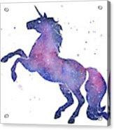 Galaxy Unicorn Acrylic Print
