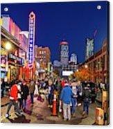 Game Night On Lansdowne Street 2018 World Series Red Sox Boston Ma 2 Acrylic Print