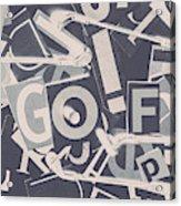 Game Of Golf Acrylic Print
