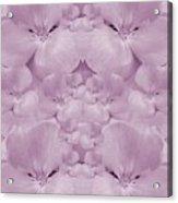 Garden Of Big Paradise Flowers Ornate Acrylic Print