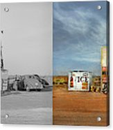 Gas Station - In The Middle Of Nowhere 1940 - Side By Side Acrylic Print