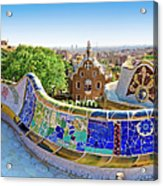 Gaudis Parc Guell In Barcelona Acrylic Print
