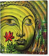 Gautama Buddha Ripple Effect Portrait Acrylic Print