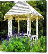 Gazebo In A Beautiful Public Garden Park 3 Acrylic Print