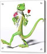 Gecko In Love Acrylic Print