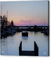 Calm Sunset Finish Acrylic Print