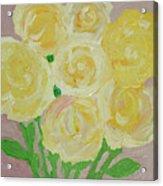 Gentle Yellow Bouquet Acrylic Print