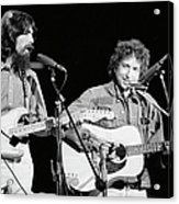 George Harrison & Bob Dylan Perform In Acrylic Print