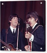 George Harrison, Paul Mccartney Acrylic Print