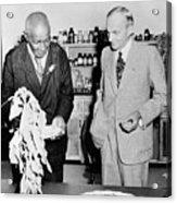 George Washington Carver And Henry Ford Acrylic Print