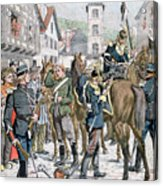 German Deserters At The French Acrylic Print