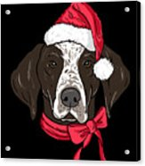 German Shorthair Xmas Hat Dog Lover Christmas Acrylic Print