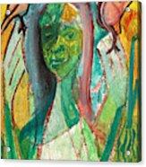 Girl In A Garden Acrylic Print