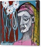 Girl In Pink Acrylic Print