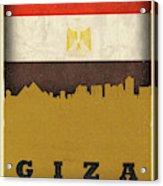 Giza Egypt World City Flag Skyline Acrylic Print