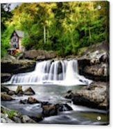 Glade Creek Grist Mill Waterfall Acrylic Print