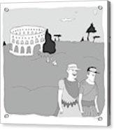 Gladiators And Lions Acrylic Print