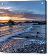 Glass Beach Sunset Acrylic Print
