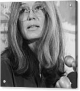 Gloria Steinem At A Press Conference Acrylic Print
