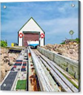 Goat Island Boat House Acrylic Print
