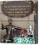 Gogarty And Joyce Statues One Acrylic Print