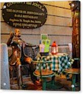 Gogarty And Joyce Statues Two Acrylic Print