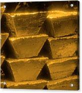 Gold Bullion Bars Acrylic Print