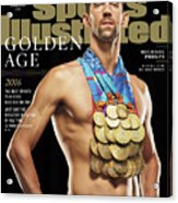 Golden Age Michael Phelps Sports Illustrated Cover Acrylic Print