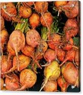 Golden Beets At A Farmers Market Acrylic Print