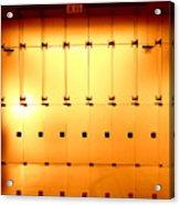 Golden Glass Doors Acrylic Print