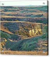 Golden Grasslands Enchantment Acrylic Print