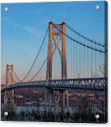 Golden Hour At Mid-hudson Bridge Acrylic Print