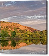 Golden Hour Contemplation At Moss Lake - Enchanted Rock Fredericksburg Texas Hill Country Acrylic Print