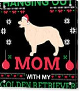 Golden Retriever Ugly Christmas Sweater Xmas Gift Acrylic Print
