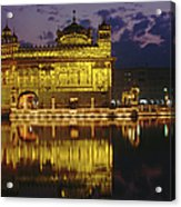 Golden Temple Harmandir Sahib On Acrylic Print