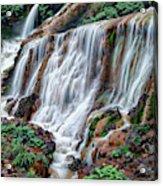Golden Waterfall Acrylic Print