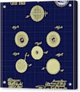 Golf Ball Patent Drawing 1899 Acrylic Print