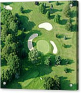 Golf Course Close Up From The Air Acrylic Print