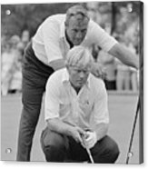 Golf Professionals Nicklaus And Palmer Acrylic Print