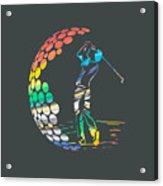 Golf Acrylic Print