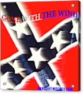 Gone With The Wind Minimalism Book Cover Art Acrylic Print