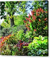 Gorgeous Gardens At Cornell University - Ithaca, New York Acrylic Print