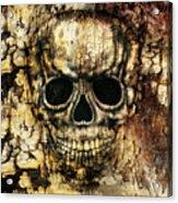 Gothic Image Of A Human Skull Acrylic Print