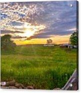 Gouveia Vineyard At Sunset  Acrylic Print