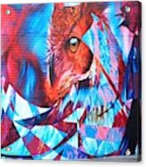 Graffiti Mural Design Acrylic Print