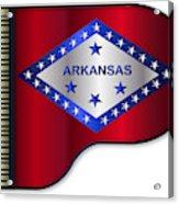 Grand Piano Arkansas Flag Acrylic Print