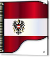 Grand Piano Austrian Flag Acrylic Print
