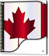 Grand Piano Canadian Flag Acrylic Print