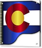 Grand Piano Colorado Flag Acrylic Print